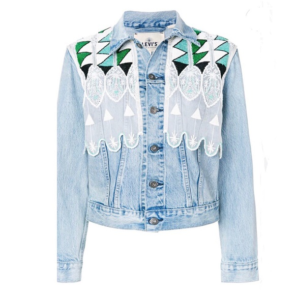 d4ea46a45ae NWT Levi s Made   Crafted Embroidered Denim Jacket